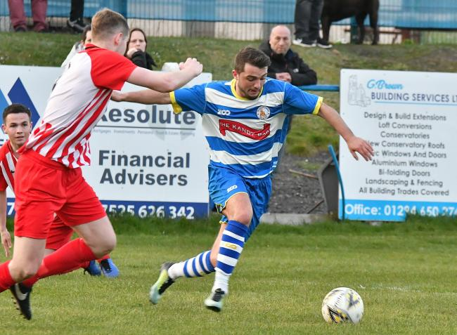 Ryan Nisbet, pictured in action for Kilwinning Rangers, has joined Glenafton Athletic.