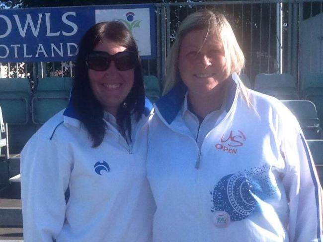 Claire Johnston (right) and Hannah Smith won the Ladies Pairs.