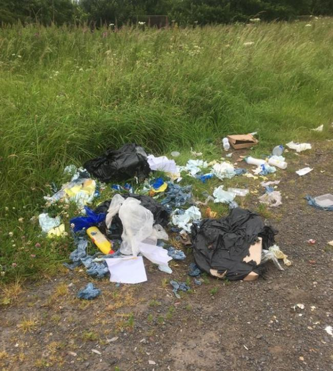 Selfish fly tippers fined hundreds of pounds after being caught dumping bags of trash