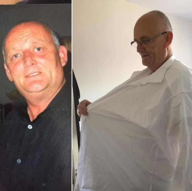 Dad sheds tons of weight after being terrified he wouldn't see son grow up
