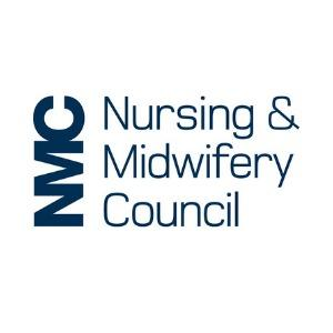 Nursing and Midwifery Council logo.
