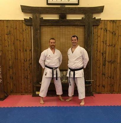Sensei Liam Gallagher (Founder and Chief instructor) and Craig Milligan