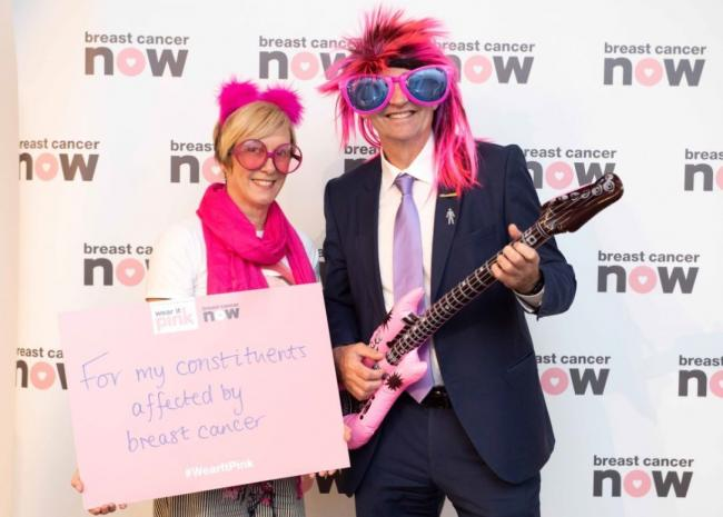 South Scotland MSP Brian Whittle raises awarenesses for breast cancer by going pink
