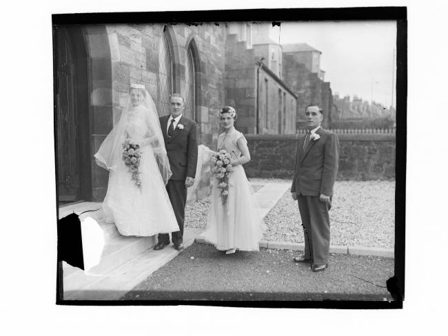 Mystery surrounds Cumnock wedding photo from the 1960s