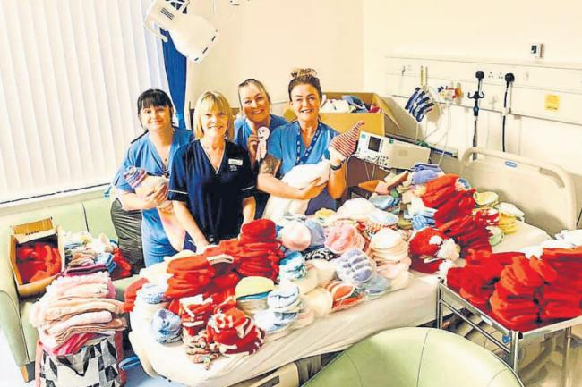 International effort helps Ayrshire new-born babies keep warm in maternity unit