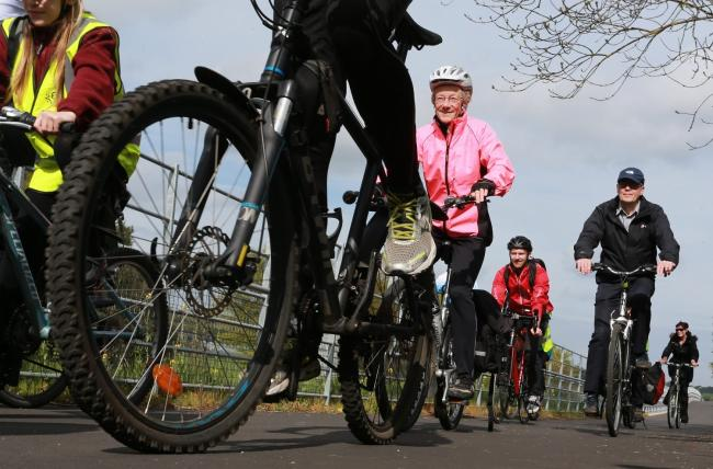 There is a growing call for more cycling and walking routes. PICTURE: Stewart Attwood.