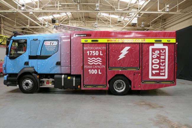 Cumnock firm manufacture the world's first electric fire engine