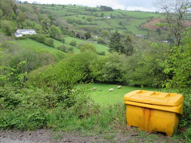 Grit bin with a view by John H Darch.
