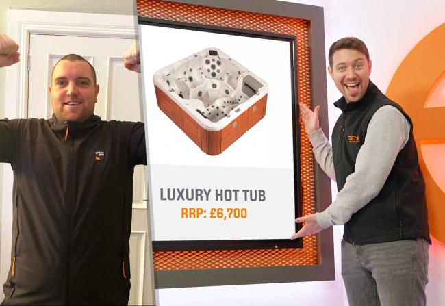 WATCH: Moment Cumnock dad-of-two scoops a luxury £7,000 hot tub