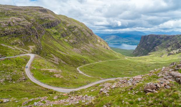 Cumnock Chronicle: Bealach na Ba on the Applecross peninsula in Wester Ross. Picture: iStockphoto/PA