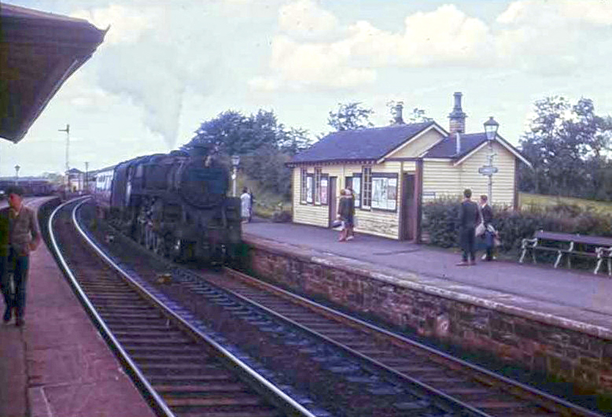 ORIGINAL STATION: Photo courtesy of the Cumnock History Group