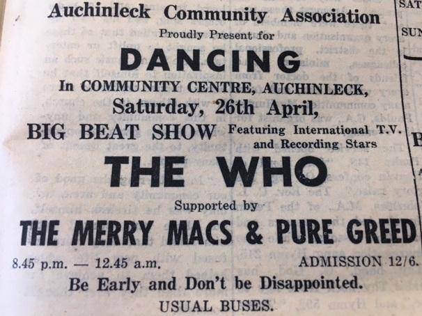 THE WHO: in Auchinleck in April 1969