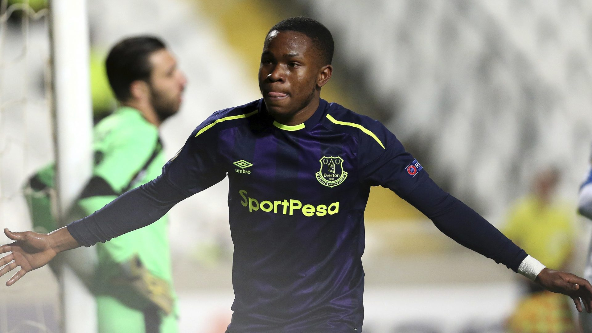 Ademola Lookman was on target twice as Everton beat Apollon Limasol in the Europa League