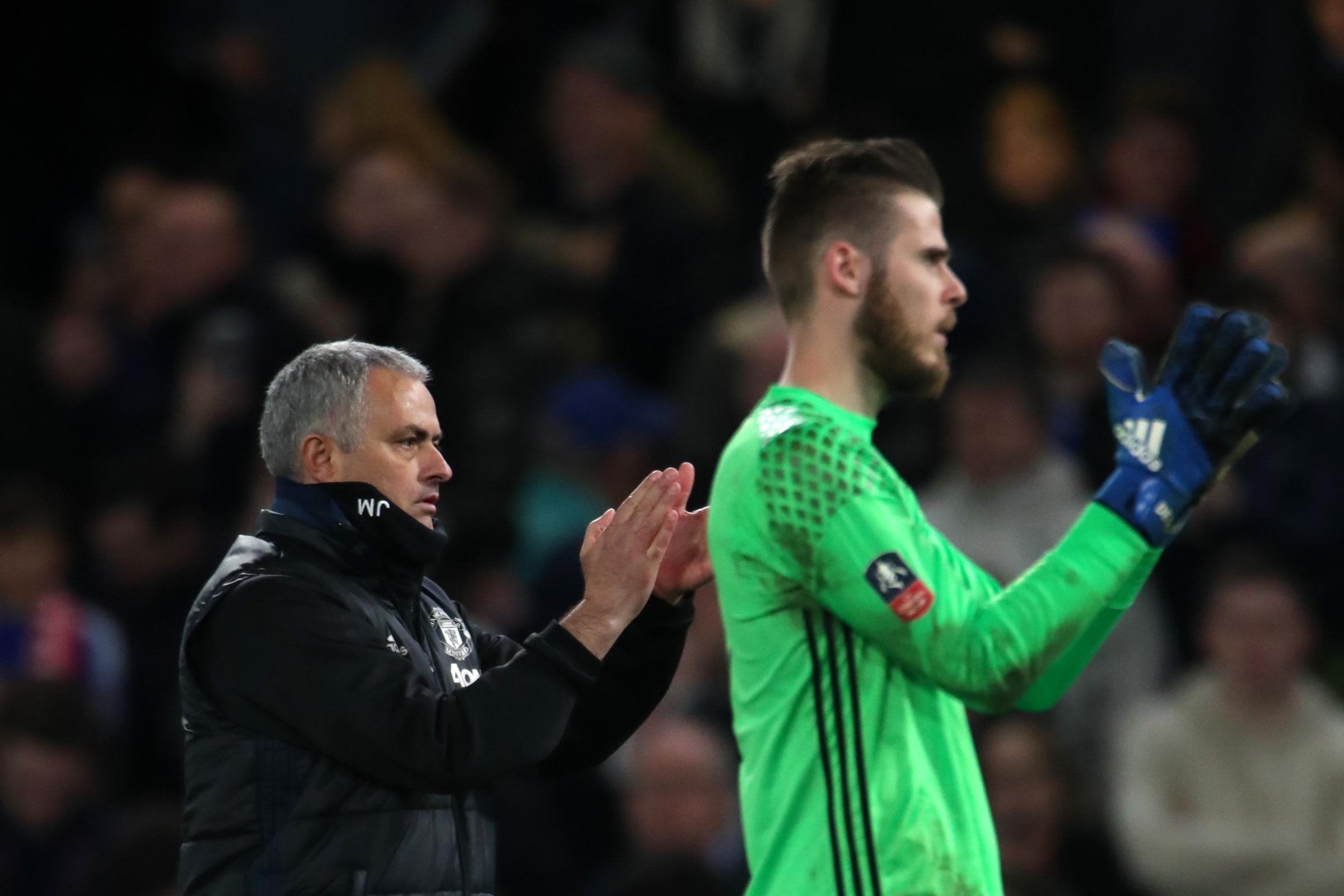 Jose Mourinho (left) has no plans to sell David de Gea (Nick Potts/PA)