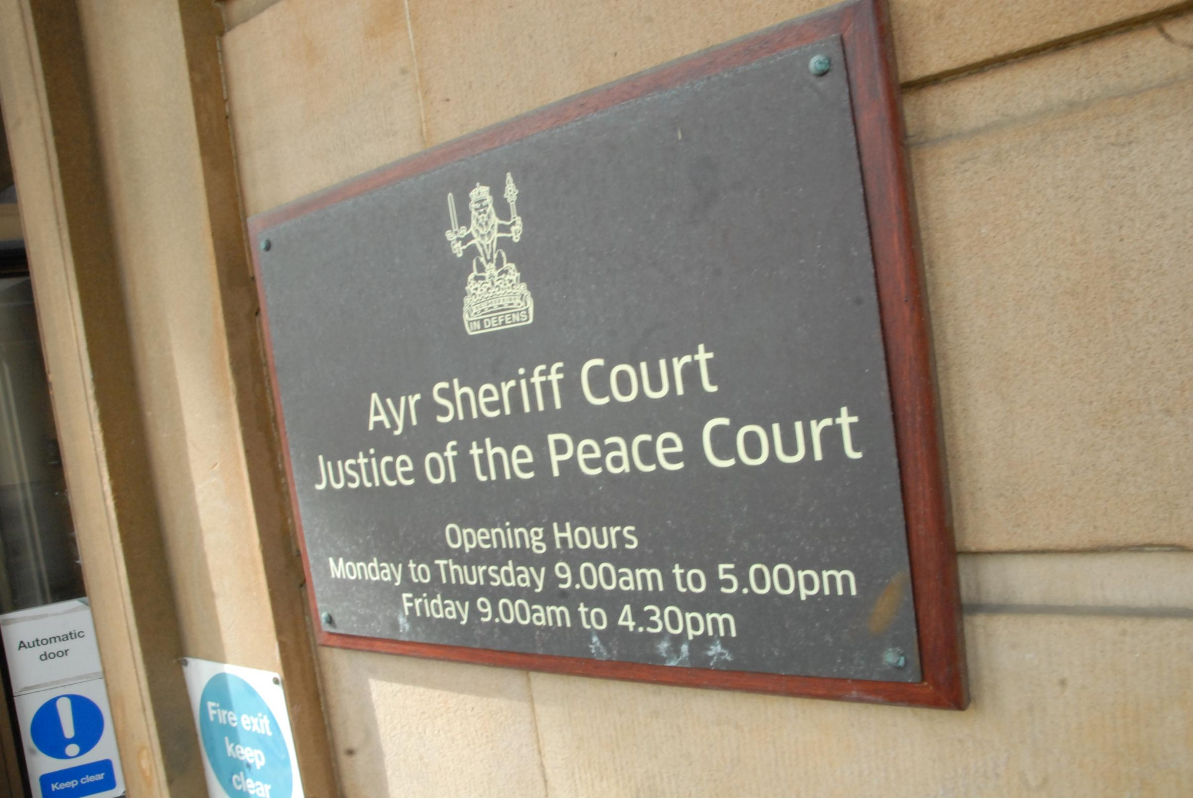 Ayr sheriff court..