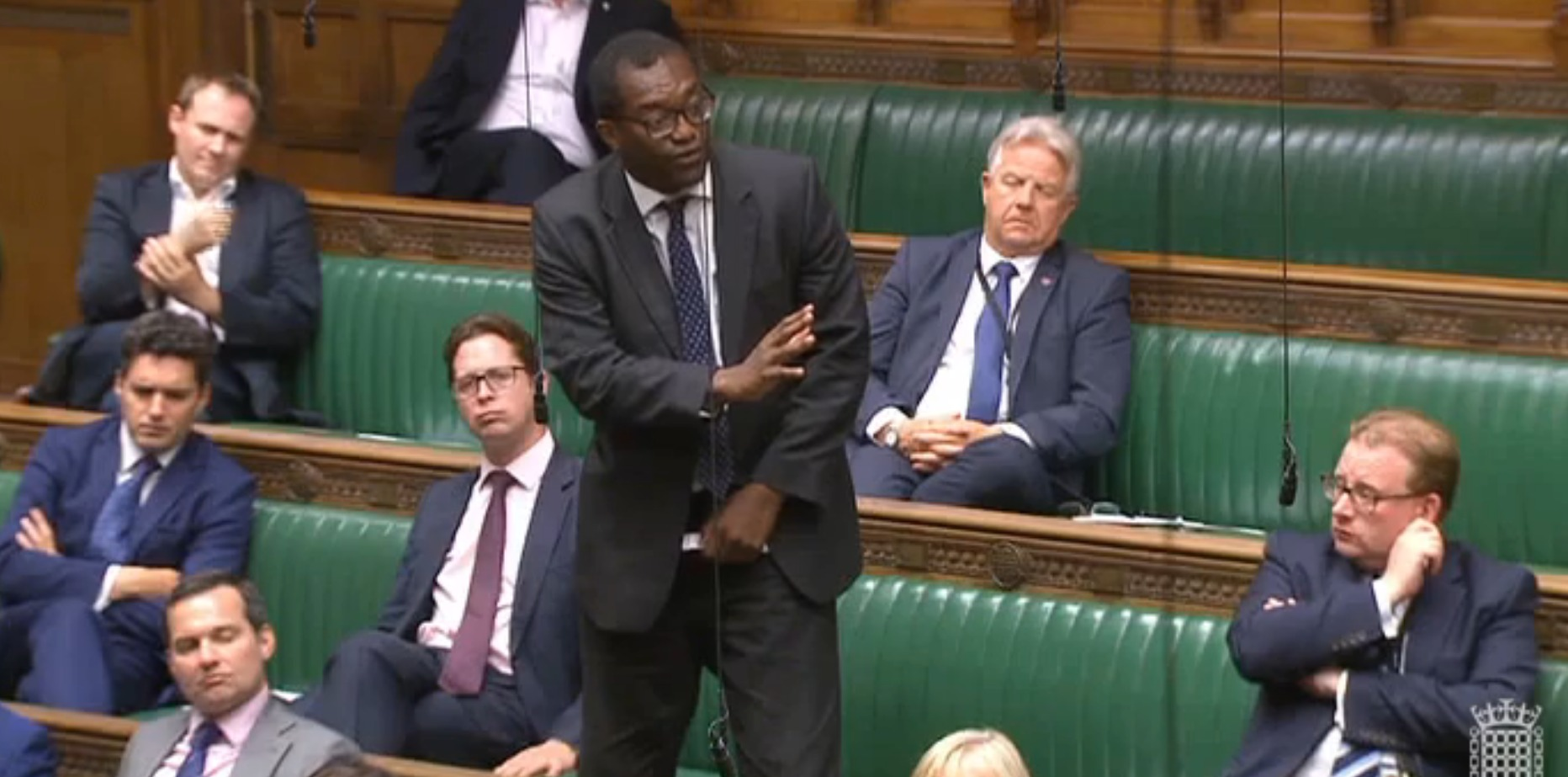 NODDING OFF: Ayr, Carrick and Cumnock MP Bill Grant fell asleep while Kwasi Kwarteng spoke.