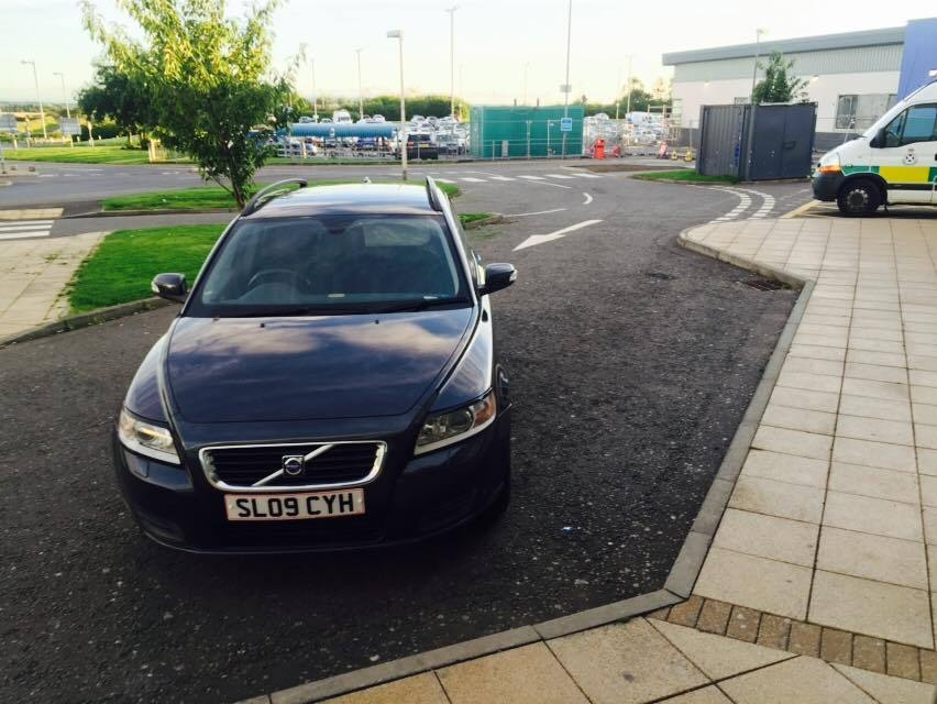 IDIOT PARKING: This driver at Crosshouse Hospital was outed on social media