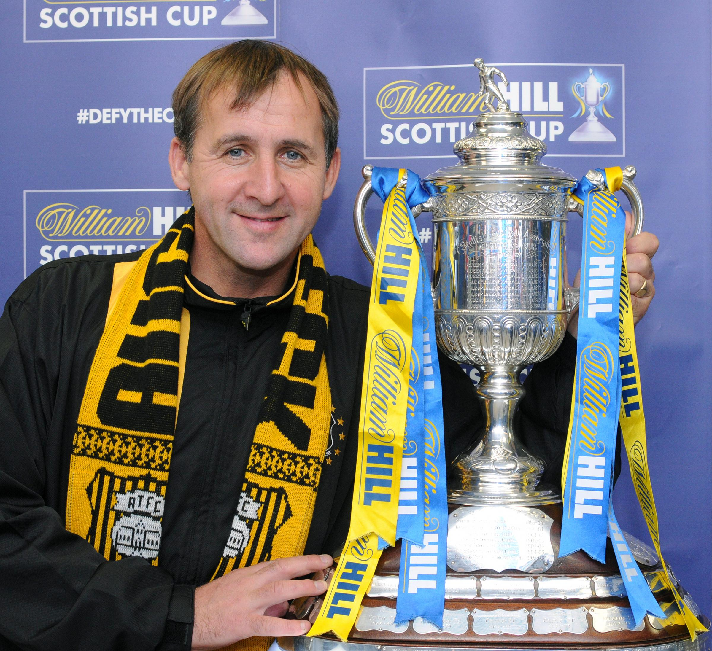CUP RUN: Tommy Sloan with the Scottish Cup.