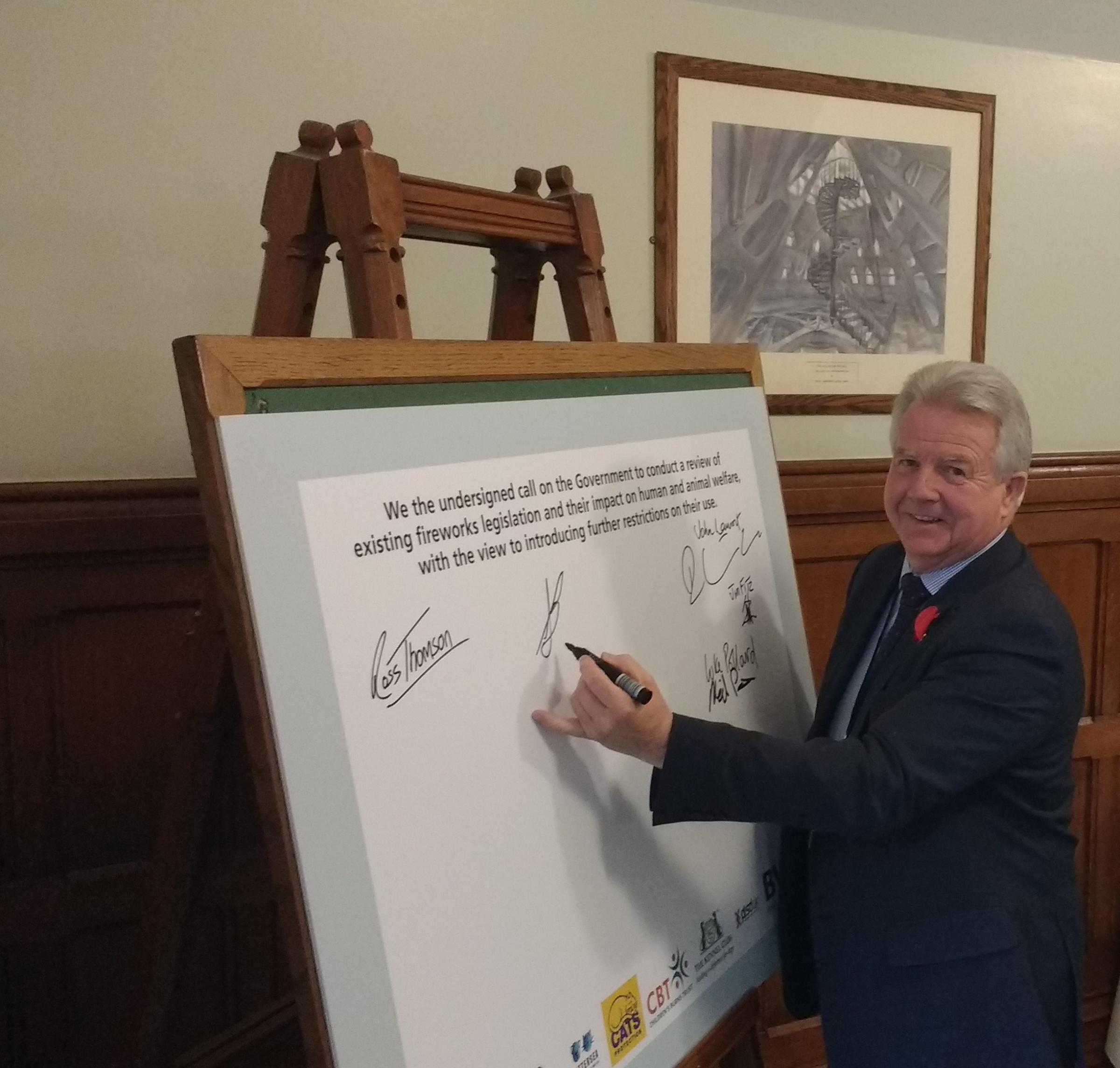 IN SUPPORT: Ayr, Carrick and Cumnock MP Bill Grant signs up