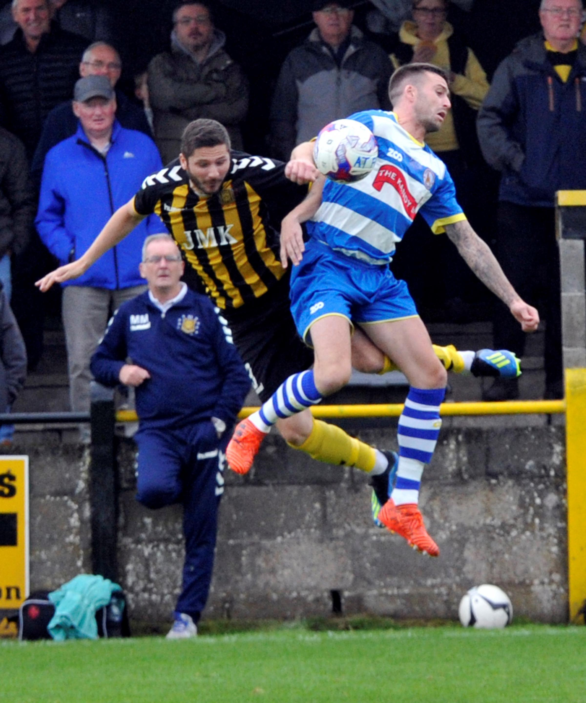PENALTY KING: Gordon Pope in action for Auchinleck Talbot against Kilwinning Rangers.