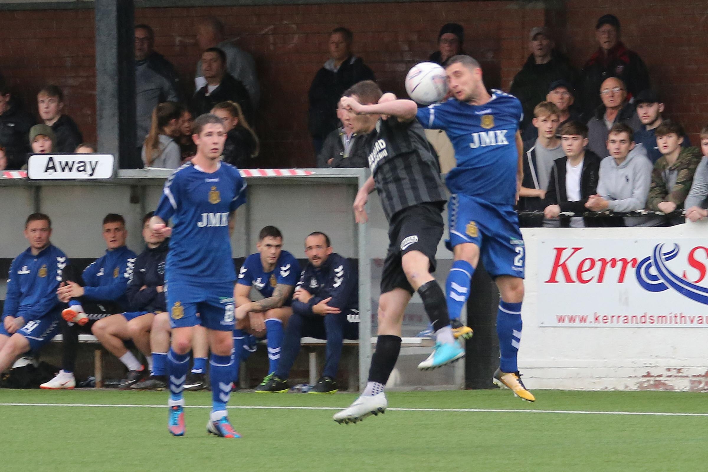MATCH ACTION: The last time Cumnock and Auchinleck met ended in a 2-0 win for Talbot at Townhead Park in the Sectional League Cup back in August of this year