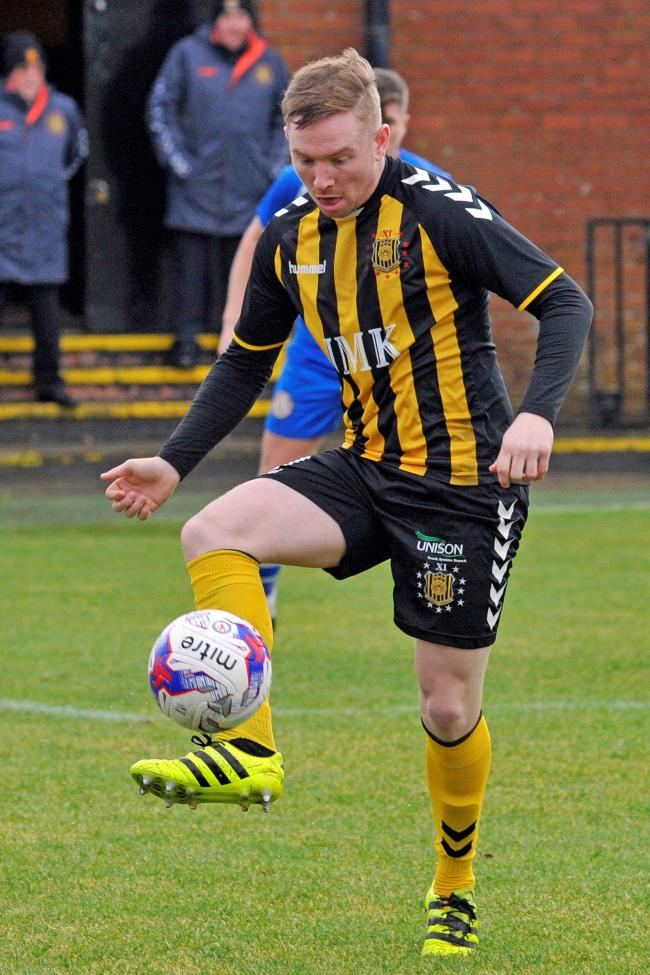 Mark Shankland in action for Auchinleck Talbot