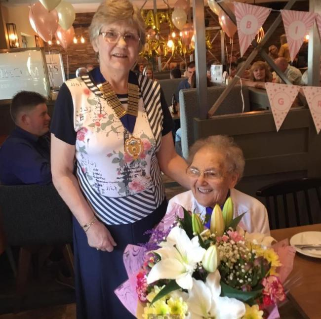 Auchencloigh group host tea party to celebrate oldest members 100th birthday