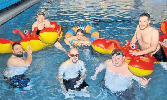 Scots from across the country swarmed New Cumnock last week to swim under the stars
