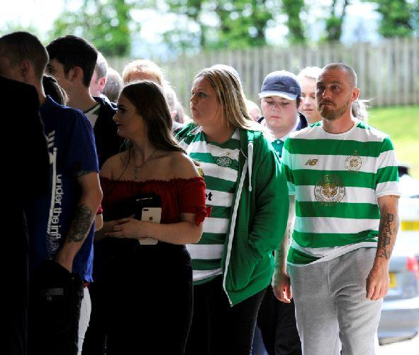 Celtic fans pack church for tragic teenager who drowned in Dalmellington