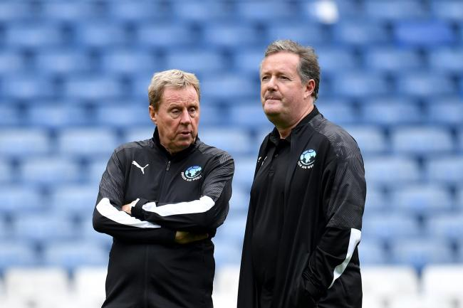 Soccer Aid World XI co-managers Harry Redknapp and Piers Morgan